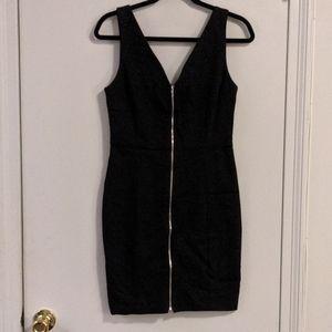 Aqua zip front dress